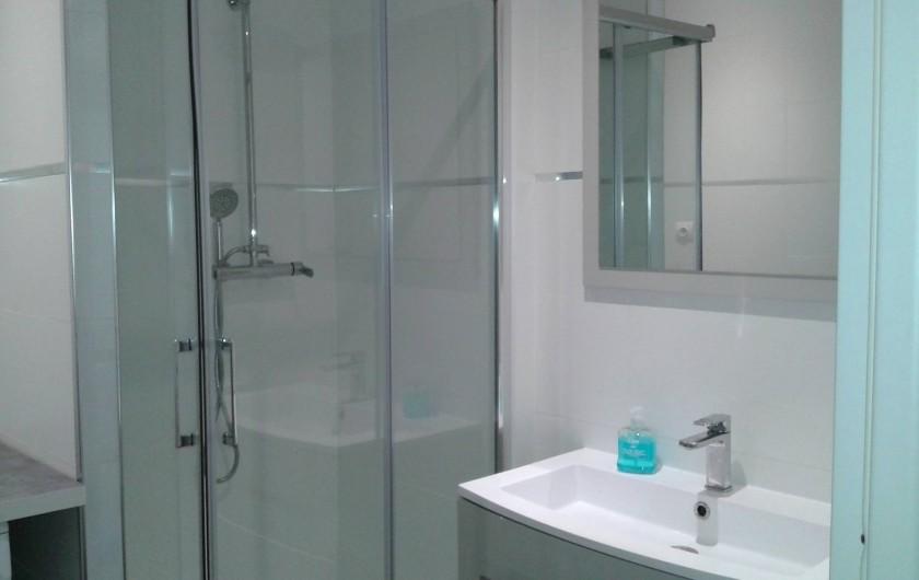 Location de vacances - Appartement à Le Crès - cabine de douche dans la salle de bain