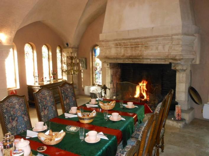 Location de vacances - Chambre d'hôtes à Bailleau-Armenonville - Salle à manger médiévale