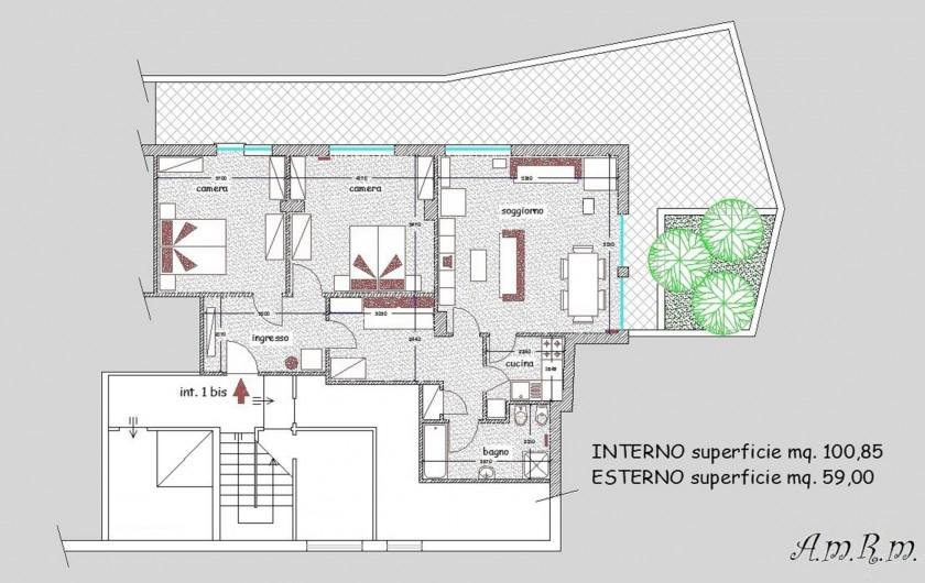 Location de vacances - Appartement à Alassio - plan d'étage