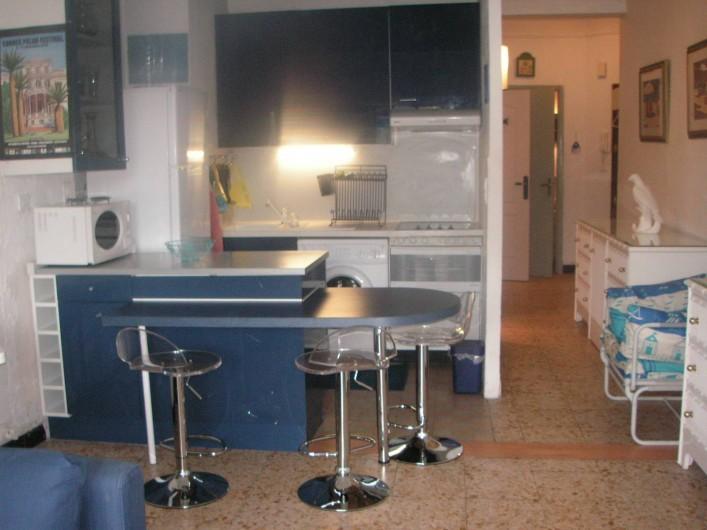 Location de vacances - Appartement à Cannes - CUISINE AMERICAINE