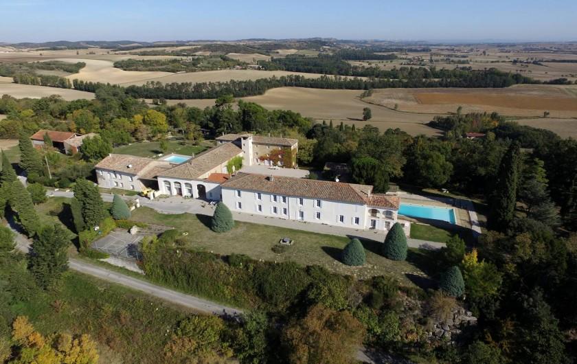 Location de vacances - Appartement à Airoux - la Ginelle vue depuis le sud