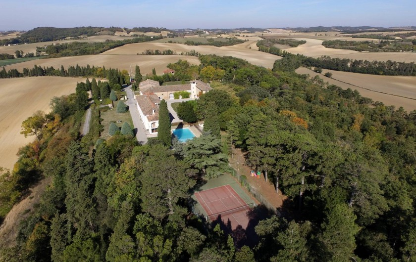 Location de vacances - Appartement à Airoux - la Ginelle vue depuis l'est