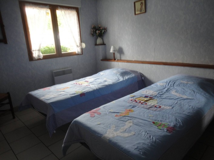 Location de vacances - Gîte à Frencq - Chambres avec 2 lits modulables