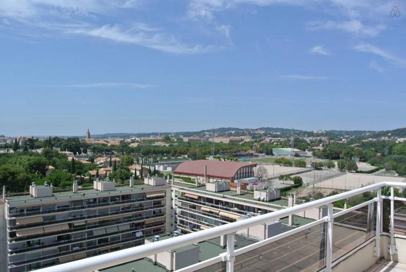 Location de vacances - Appartement à Aix-en-Provence - Vue de la terrasse