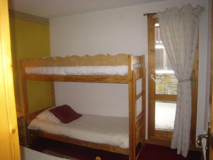 Location de vacances - Appartement à Valmorel - Chambre enfants lits superposés...