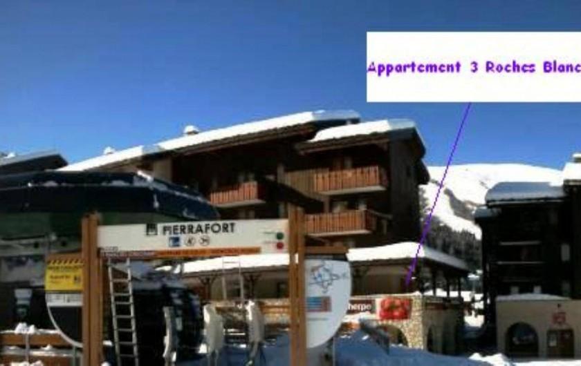 Location de vacances - Appartement à Valmorel - Crève Coeur Départ du télécabine Appartement skis aux pieds