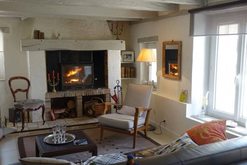 Location de vacances - Maison - Villa à Fondettes - cheminée salon