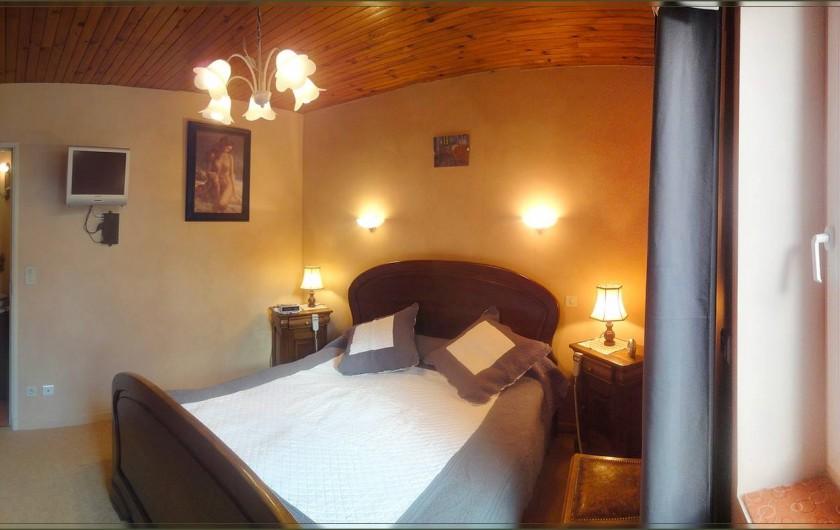 Location de vacances - Mas à Saint-Rémy-de-Provence - Lit avec sommier électrique de 2X80X200