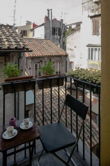 Location de vacances - Appartement à Rome - le petit balcon sur les toits