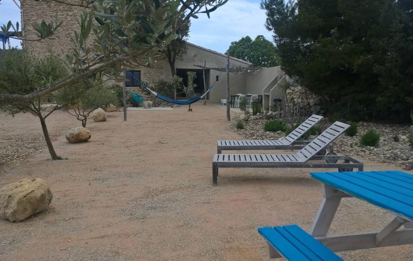 Location de vacances - Gîte à Fitou - transats et hamac