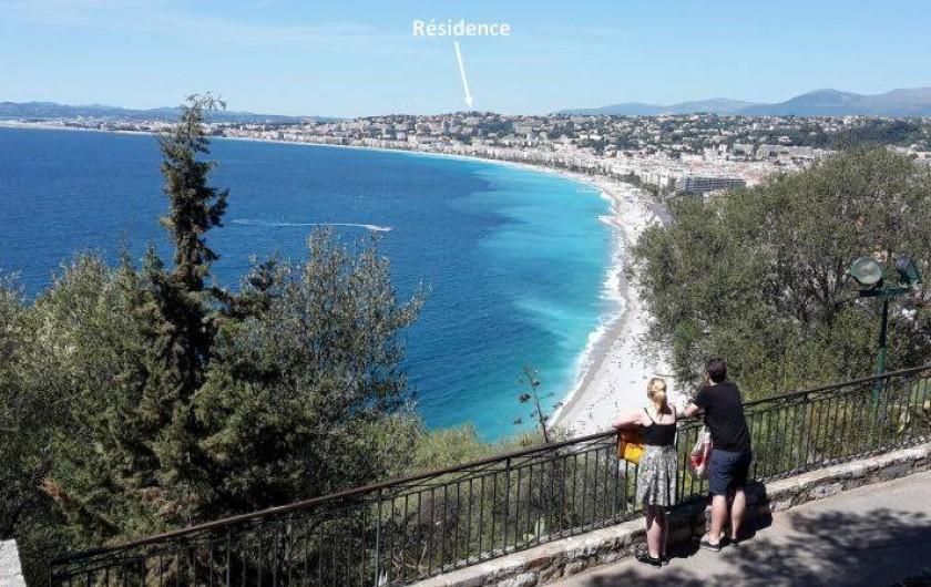 Location de vacances - Appartement à Nice - Les plages le long de la Promenade des Anglais