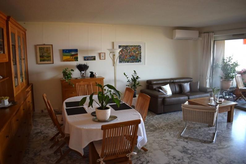 Location de vacances - Appartement à Nice - Le salon