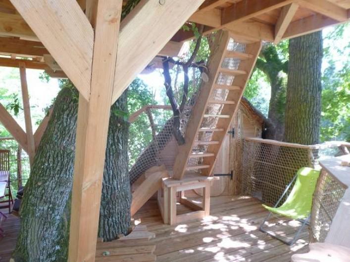 Location de vacances - Cabane dans les arbres à Saint-Hilaire-en-Morvan