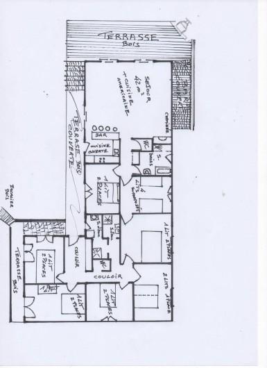 Location de vacances - Villa à Le Cap Ferret - Plan de la maison