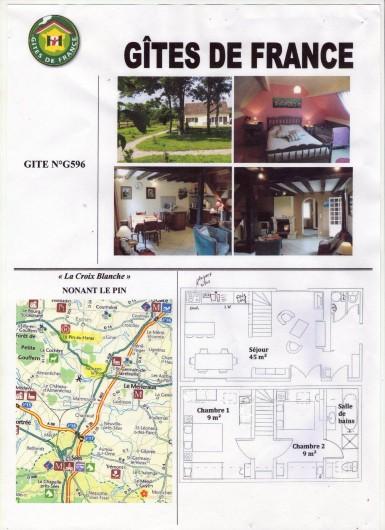 Location de vacances - Gîte à Nonant-le-Pin - accès, plan et vue d'ensemble