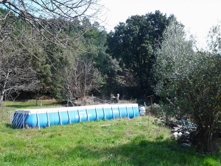 Location de vacances - Hôtel - Auberge à Malarce-sur-la-Thines - piscine avec la maison à louer