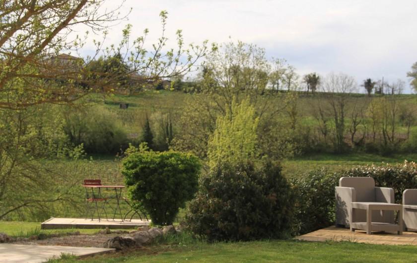 Location de vacances - Gîte à Senouillac - coins détente près de la piscine