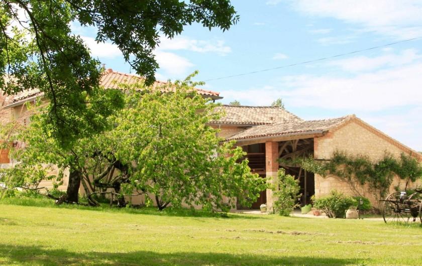 Location de vacances - Gîte à Senouillac - la maison côté nord-est