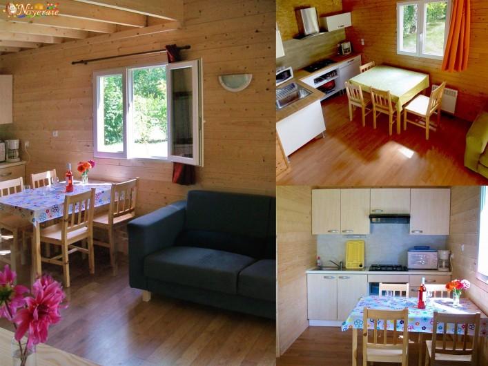 Location de vacances - Chalet à Sarlat-la-Canéda - Charmille : intérieur salon et cuisine