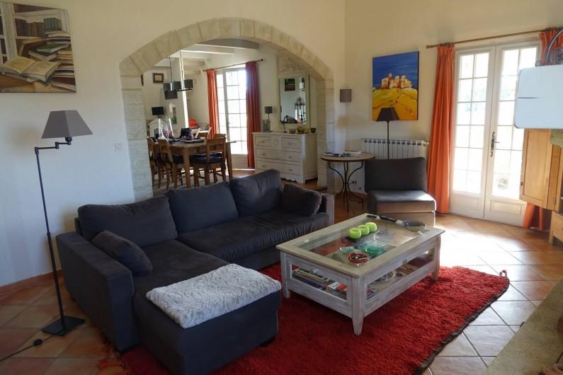 Location de vacances - Villa à Saint-Pierre-de-Vassols - salon