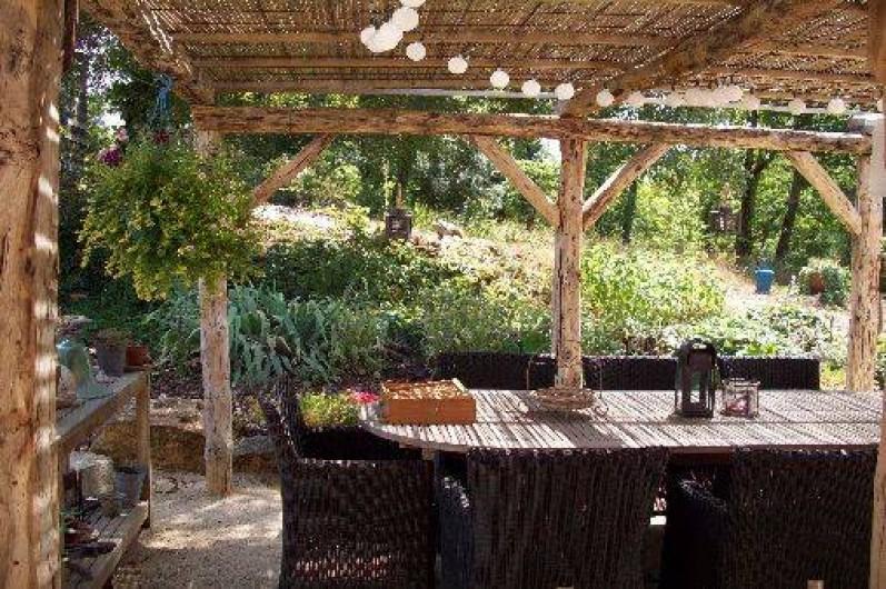 Location de vacances - Villa à Salviac - La terrasse à côté de la cuisine.