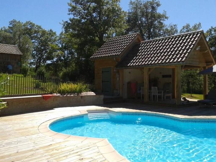 Location de vacances - Villa à Salviac - Le nouveau pool house