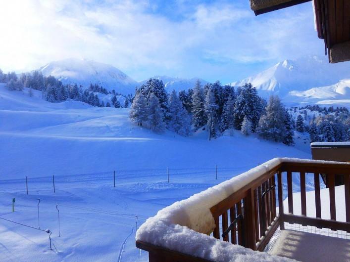 Location de vacances - Studio à Mâcot-la-Plagne - Vue depuis le balcon