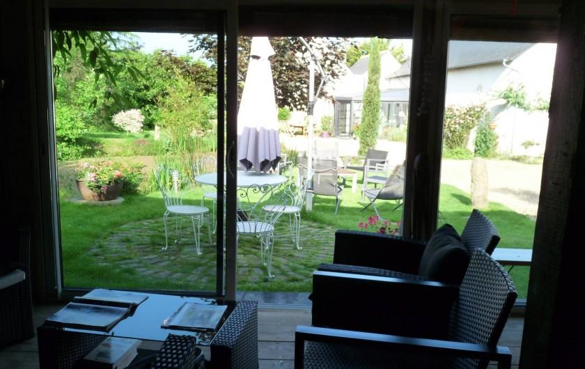 Location de vacances - Chambre d'hôtes à Dissay-Sous-Courcillon - vue du parc de la Pailotte