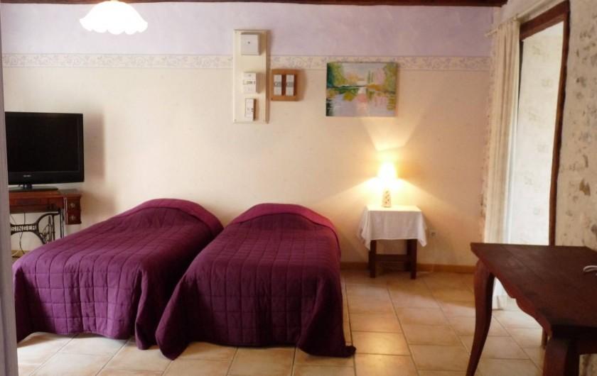 Location de vacances - Chambre d'hôtes à Dissay-Sous-Courcillon - pièce attenante au grand appartement
