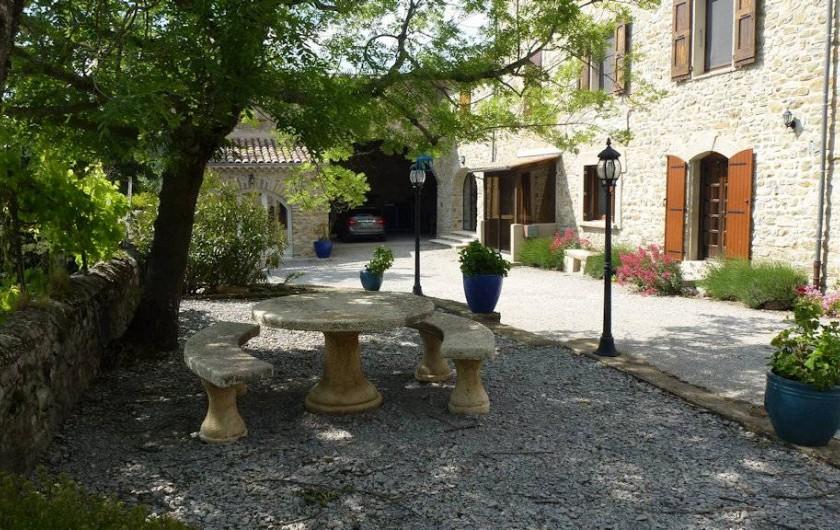 Location de vacances - Gîte à Saou - Gîte du Haulty Terrasse