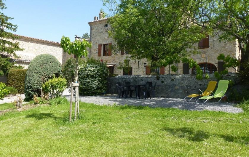 Location de vacances - Gîte à Saou - Gîte du Pommerolle Terrasse