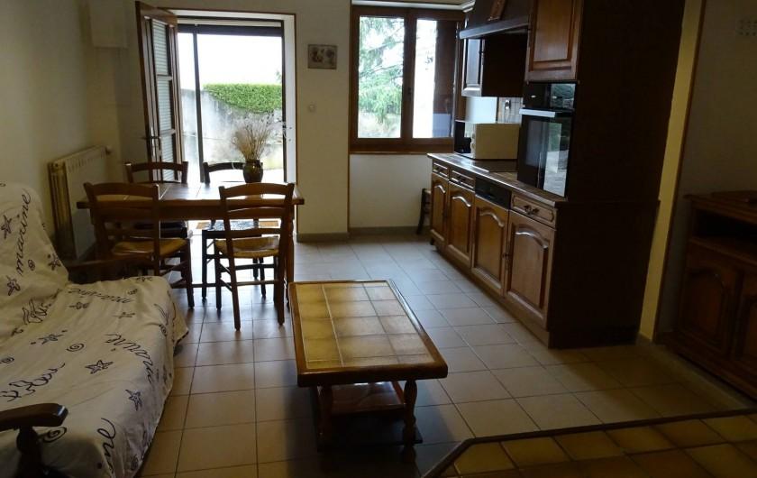 Location de vacances - Gîte à Saou - Gîte du Pommerolle séjour/cuisine