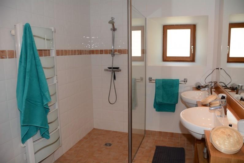 Location de vacances - Gîte à Ambazac - la salle de bains du rez-de- chaussée (chambre 1 et 2)