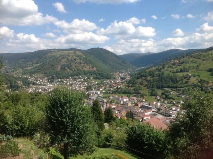 Location de vacances - Chalet à La Bresse - Vue sur la vallée depuis le chalet