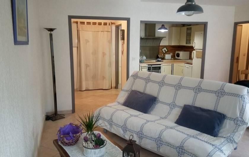 Location de vacances - Appartement à Sanary-sur-Mer - Living