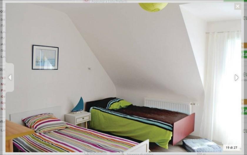 Location de vacances - Villa à Plouguerneau - Chambre enfants ( 2 lits de 90)