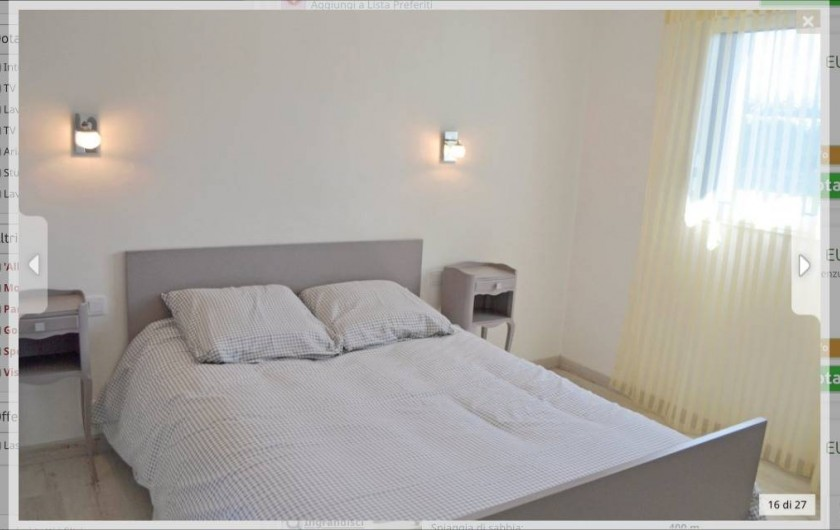 Location de vacances - Villa à Plouguerneau - Chambre du RDC (lit de 140)