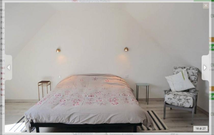 Location de vacances - Villa à Plouguerneau - Grande chambre étage (lit 160)