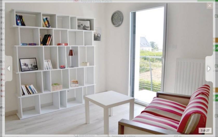Location de vacances - Villa à Plouguerneau - La mezzanine avec accès au petit balcon