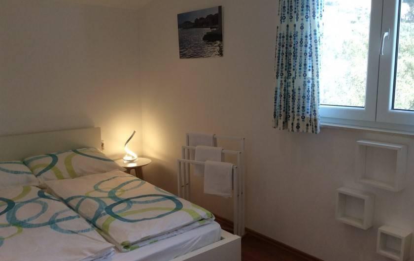 Location de vacances - Appartement à Brela - La chambre Est , vue sur une oliveraie.