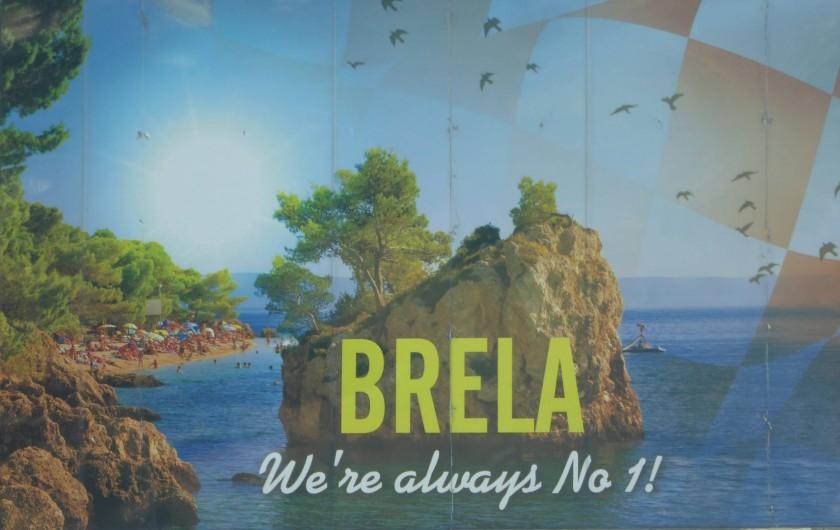 Location de vacances - Appartement à Brela - Le célèbre rocher de Bréla.