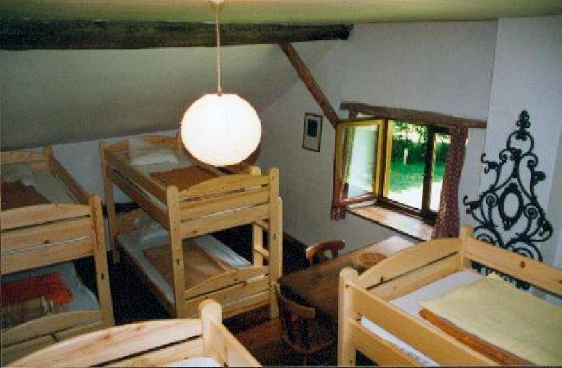 Location de vacances - Villa à Rendeux-Bas - La grande à coucher avec 4 lits superposés.