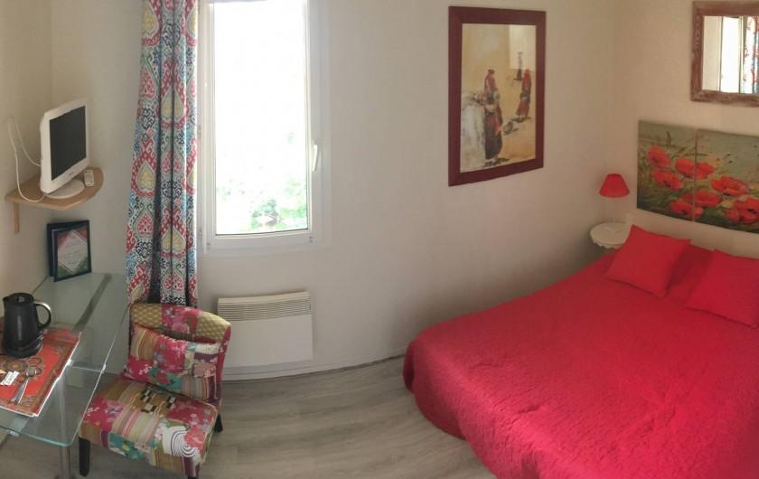 Location de vacances - Hôtel - Auberge à Soorts-Hossegor - Chambre sans vue sur l'océan, 1 lit double, douche et toilettes (2pers)