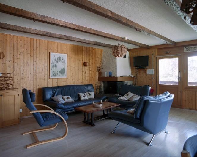 Location de vacances - Appartement à Verbier - Salon
