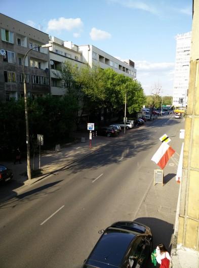 Location de vacances - Appartement à Varsovie - Vue de la rue à partir de loggia