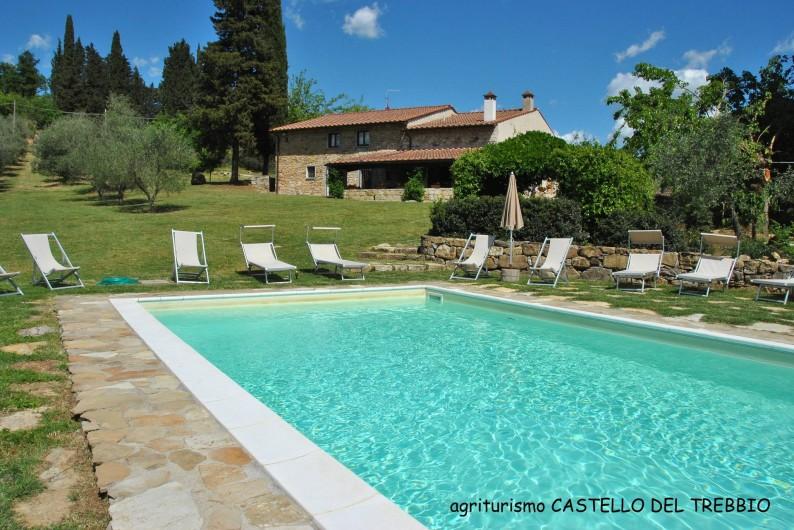 Location de vacances - Villa à Santa Brigida - Pool of villa Faltignano