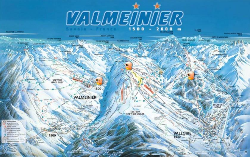 Location de vacances - Appartement à Valmeinier 1800 - Plan des pistes