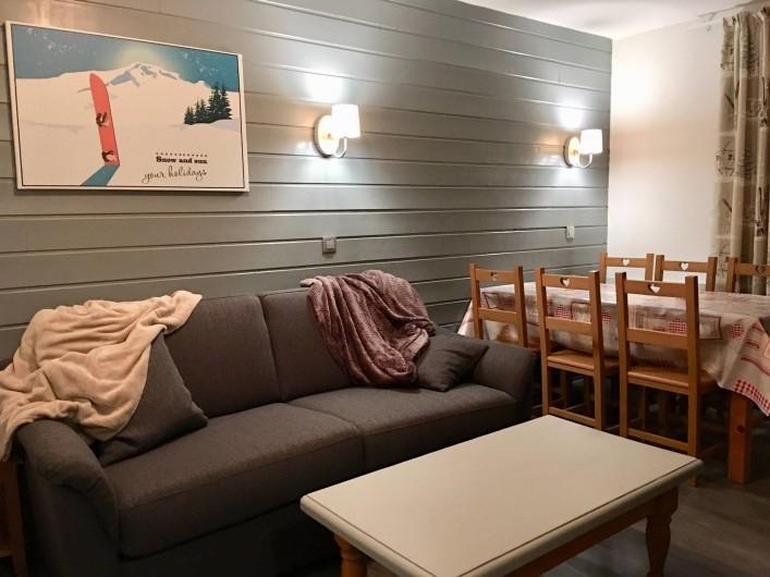 Location de vacances - Appartement à Valmeinier 1800 - Séjour