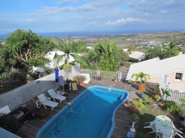 Location de vacances - Villa à Saint-Paul - piscine coin détente
