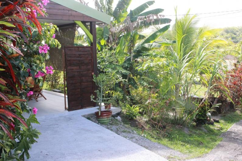Location de vacances - Bungalow - Mobilhome à Rivière-Salée - Paysage autour du Bungalow (petit coin de verdure)